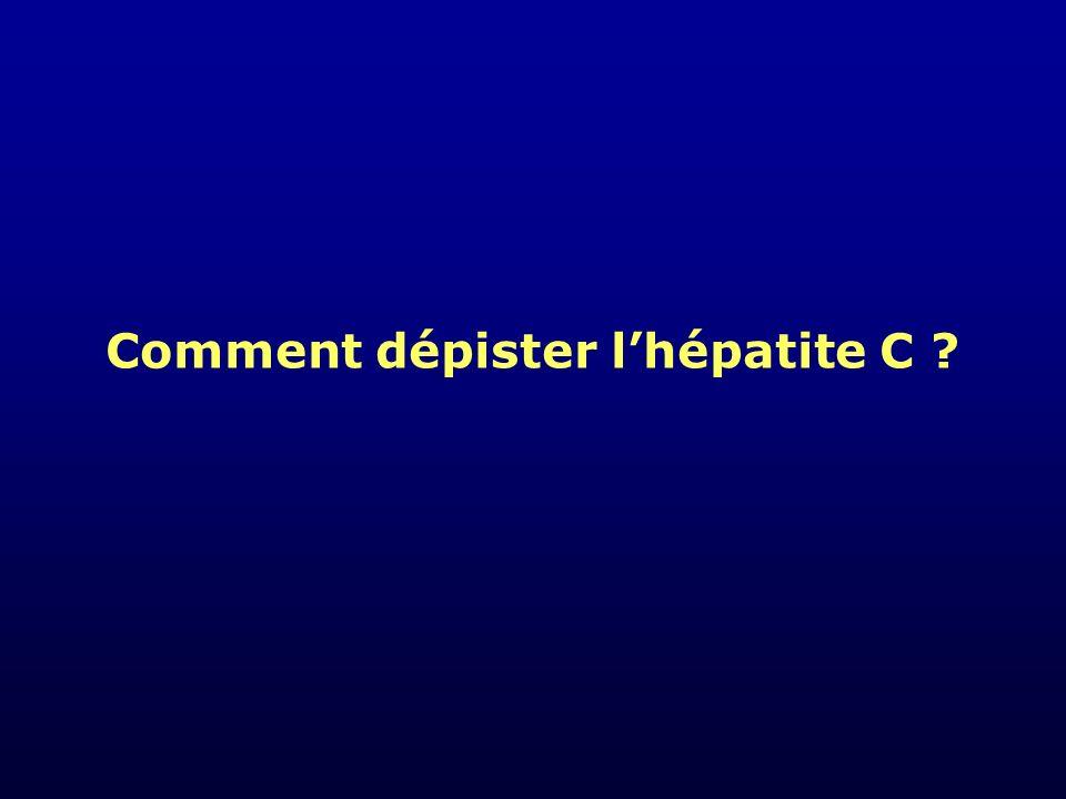 Comment dépister l'hépatite C