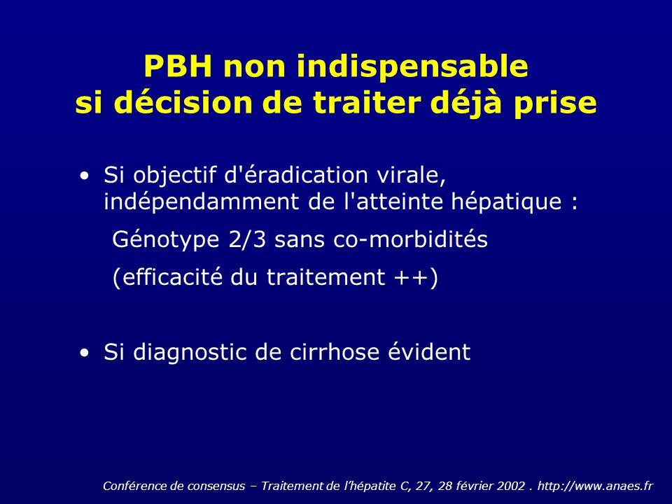 PBH non indispensable si décision de traiter déjà prise