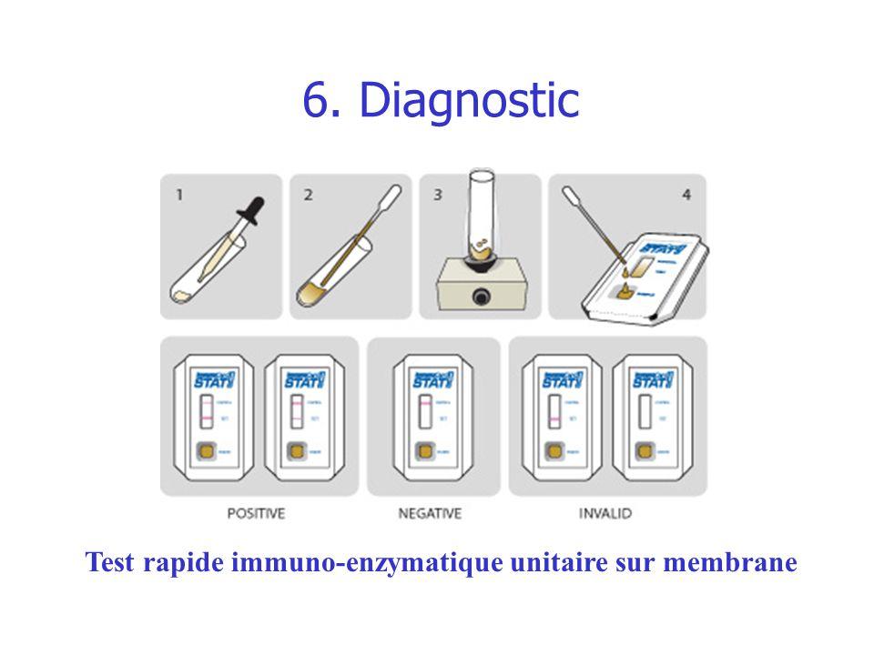 Test rapide immuno-enzymatique unitaire sur membrane