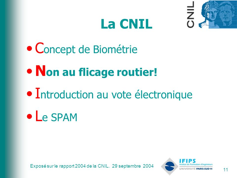 Introduction au vote électronique Le SPAM