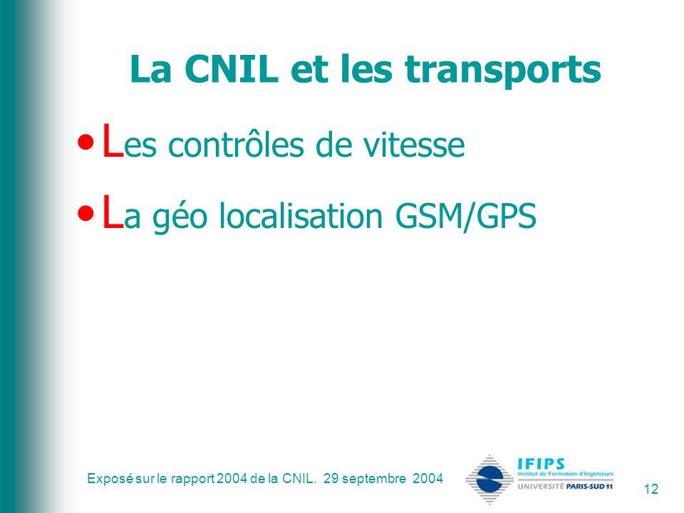 La CNIL et les transports