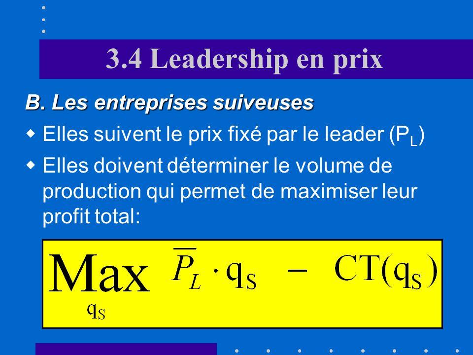 3.4 Leadership en prix B. Les entreprises suiveuses