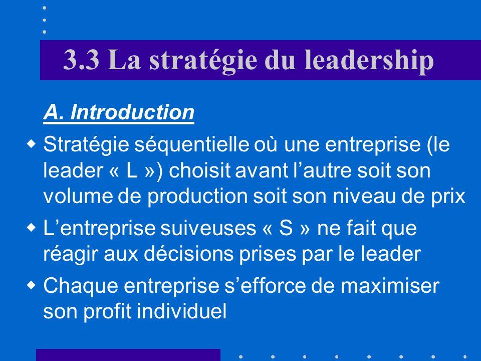 3.3 La stratégie du leadership
