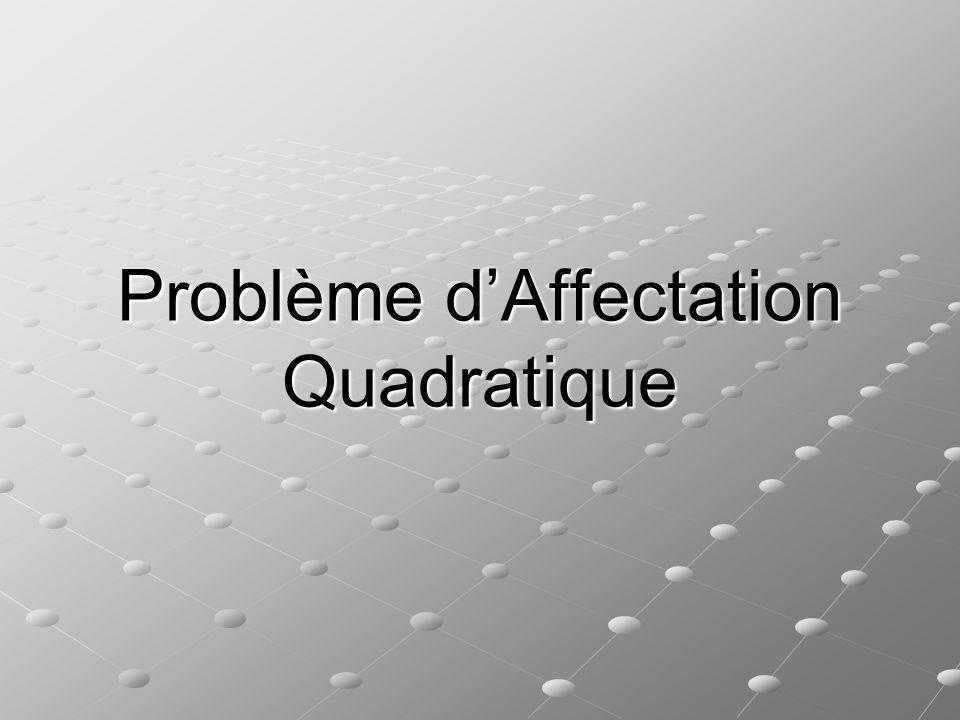 Problème d'Affectation Quadratique