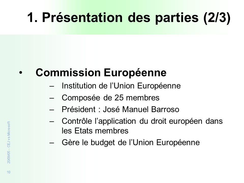 1. Présentation des parties (2/3)