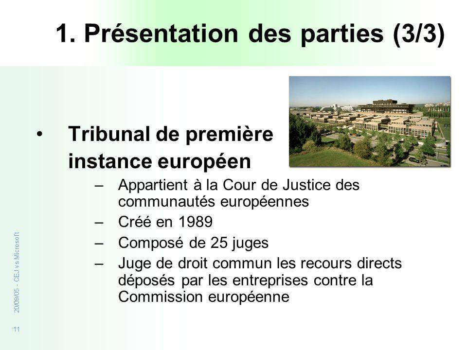 1. Présentation des parties (3/3)