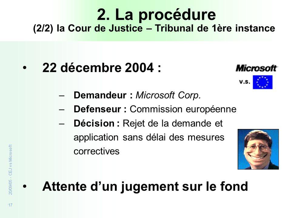 (2/2) la Cour de Justice – Tribunal de 1ère instance
