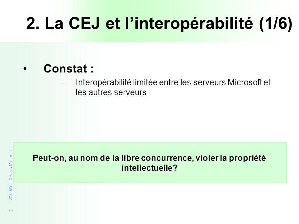 2. La CEJ et l'interopérabilité (1/6)
