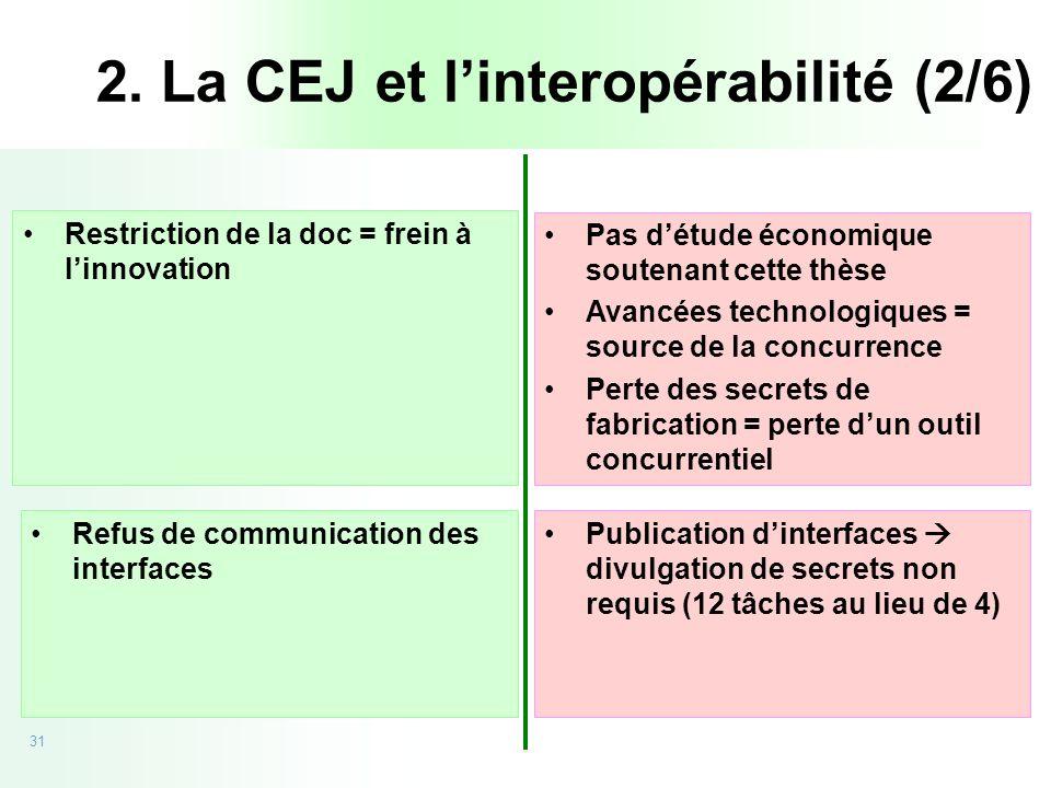 2. La CEJ et l'interopérabilité (2/6)