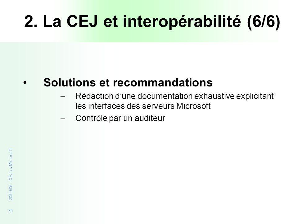 2. La CEJ et interopérabilité (6/6)