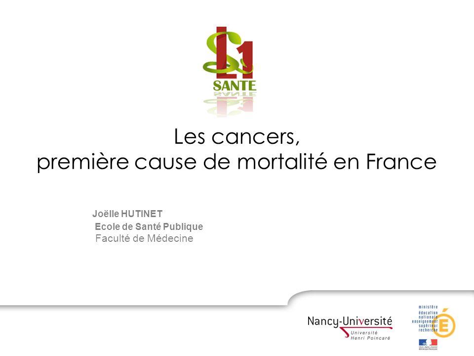 Les cancers, première cause de mortalité en France