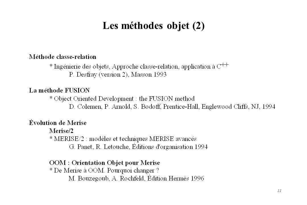 Les méthodes objet (2)