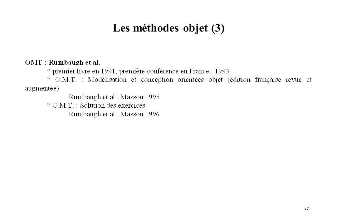 Les méthodes objet (3)