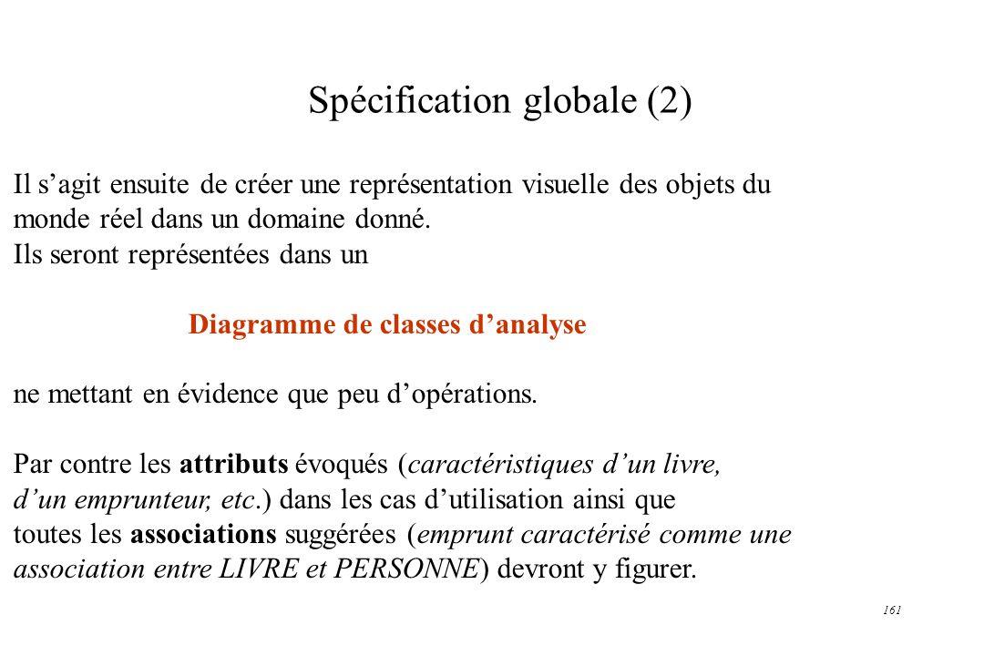 Spécification globale (2)