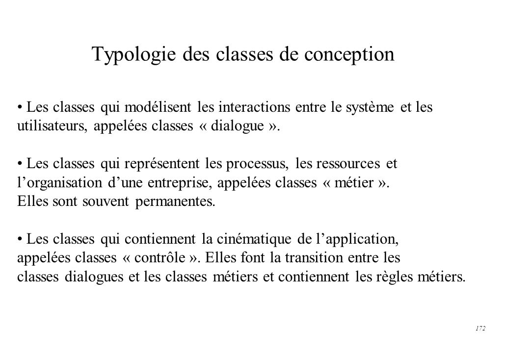 Typologie des classes de conception