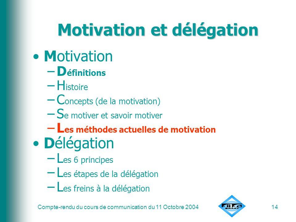 Motivation et délégation