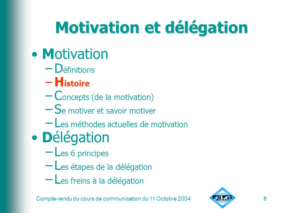 Motivation et délégation
