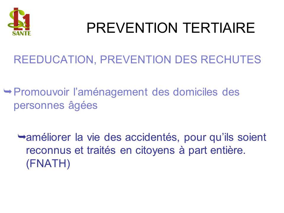 PREVENTION TERTIAIRE REEDUCATION, PREVENTION DES RECHUTES