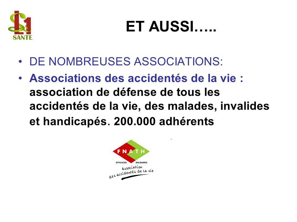 ET AUSSI….. DE NOMBREUSES ASSOCIATIONS: