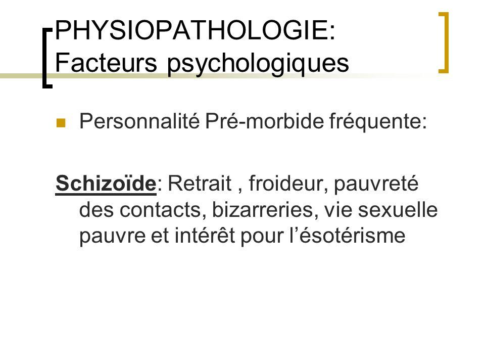 PHYSIOPATHOLOGIE: Facteurs psychologiques