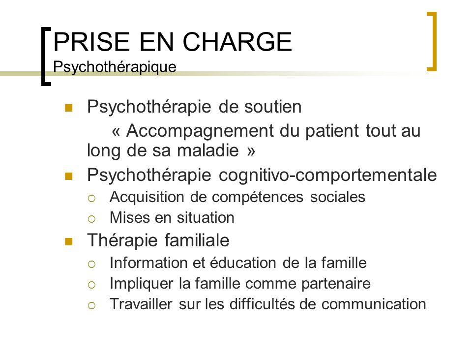 PRISE EN CHARGE Psychothérapique