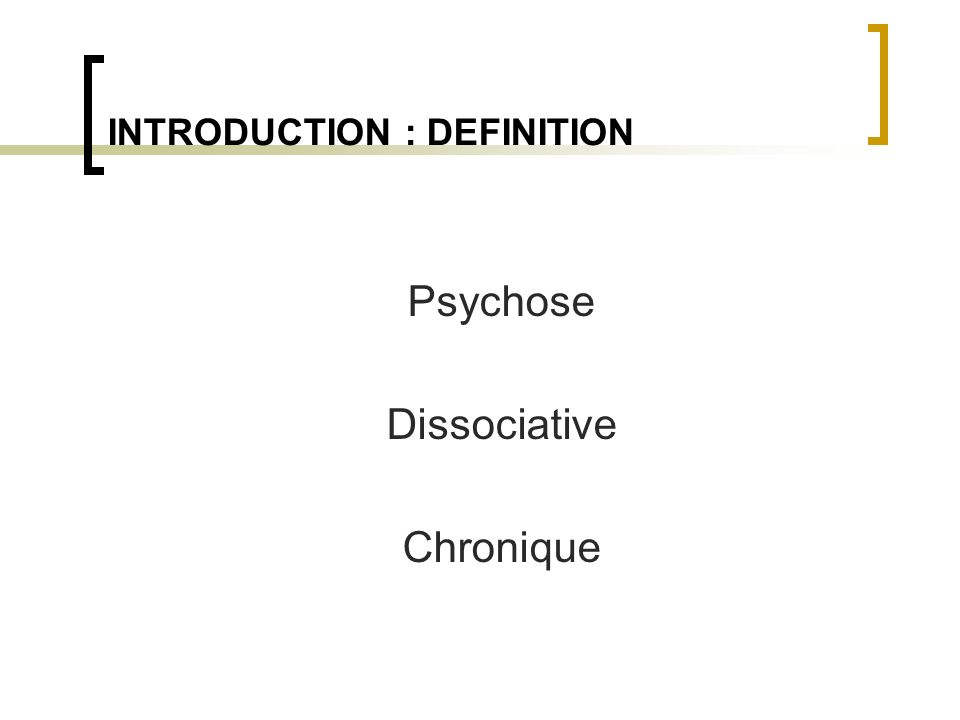 INTRODUCTION : DEFINITION