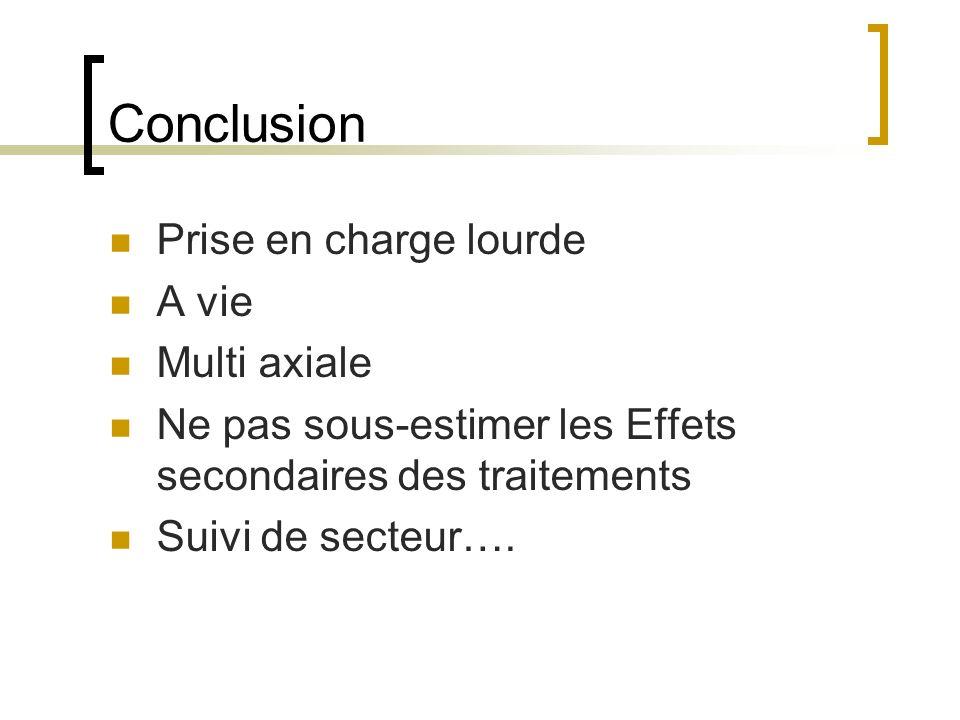 Conclusion Prise en charge lourde A vie Multi axiale