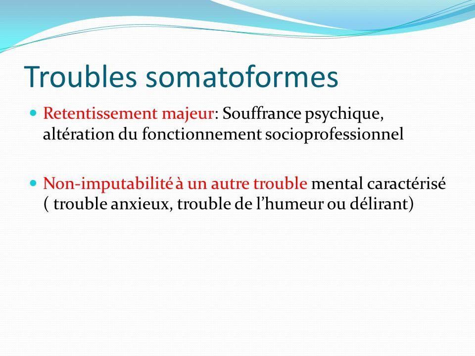 Troubles somatoformes