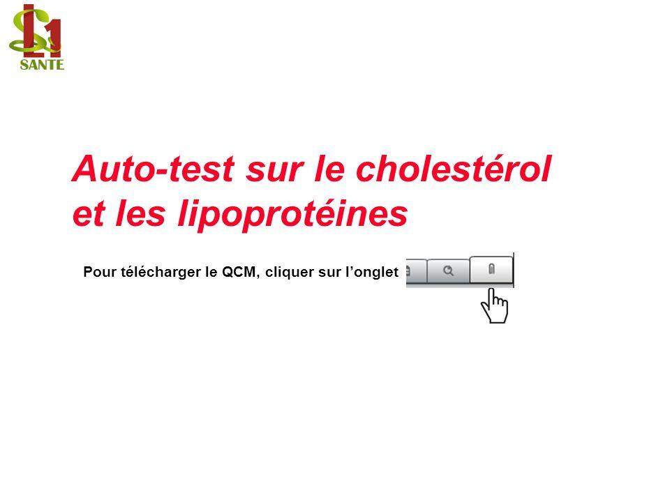 Auto-test sur le cholestérol et les lipoprotéines