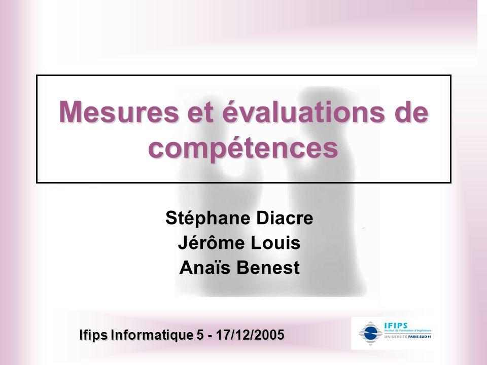 Mesures et évaluations de compétences