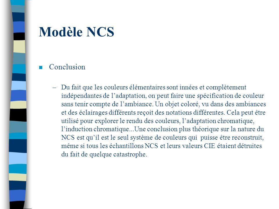 Modèle NCS Conclusion.