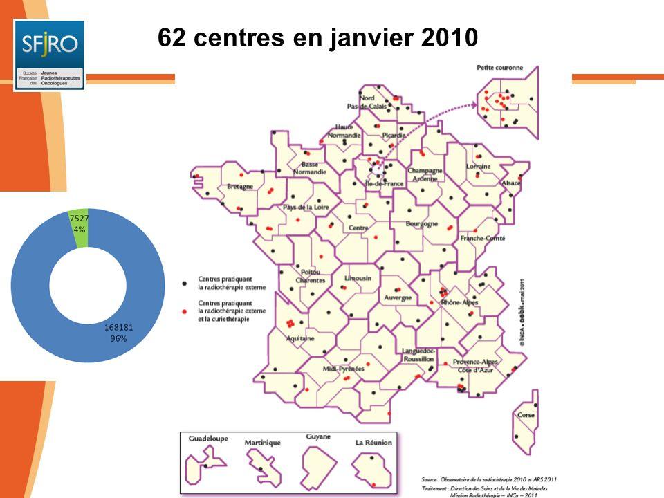 62 centres en janvier 2010