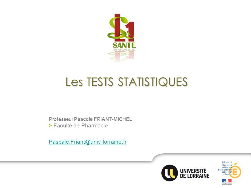 Les TESTS STATISTIQUES