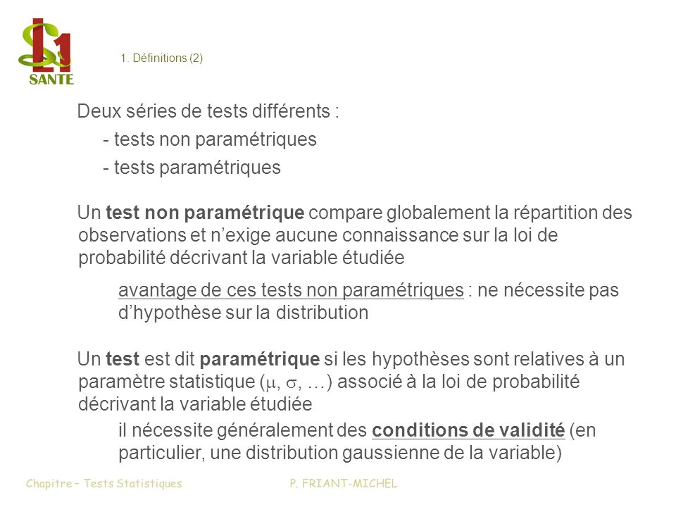 Chapitre – Tests Statistiques