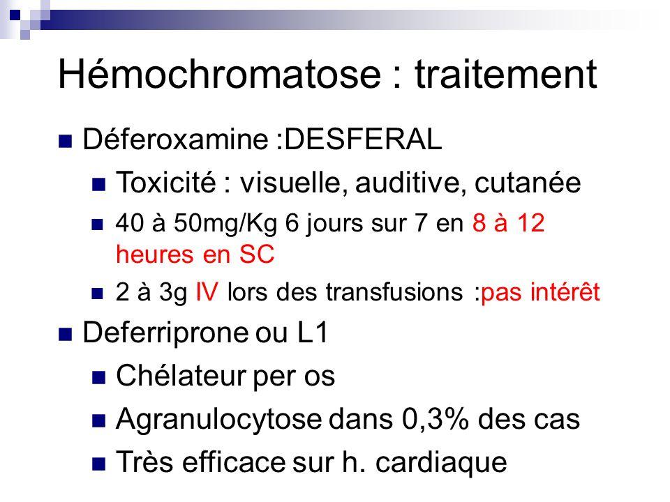 Hémochromatose : traitement