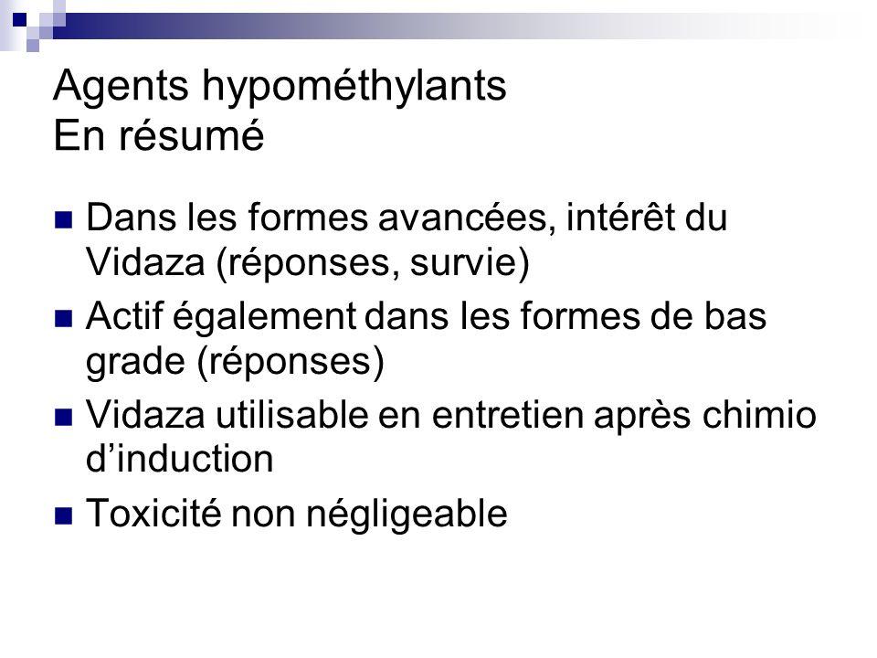 Agents hypométhylants En résumé
