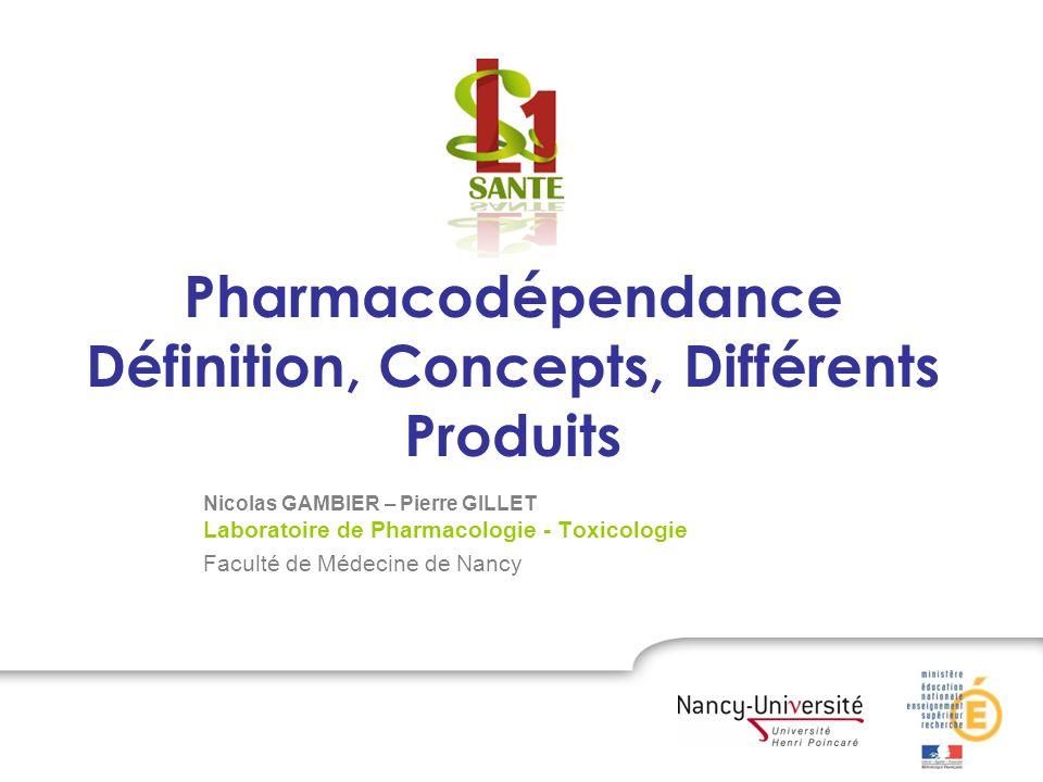 Pharmacodépendance Définition, Concepts, Différents Produits