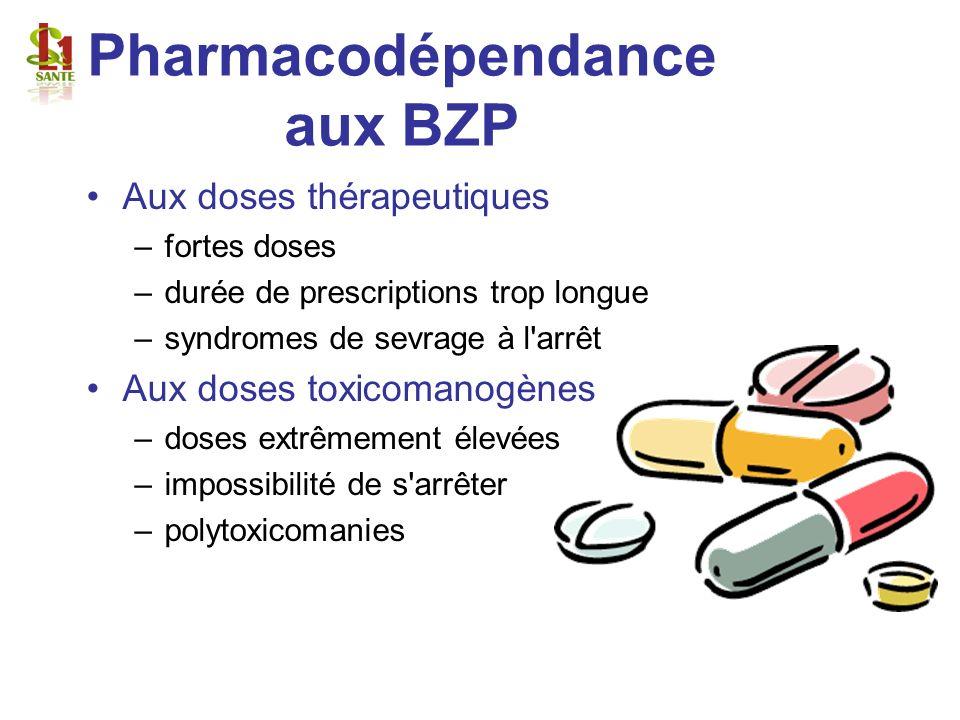 Pharmacodépendance aux BZP