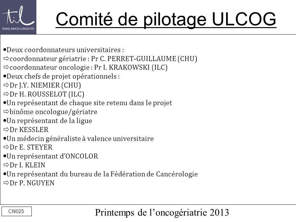 Comité de pilotage ULCOG