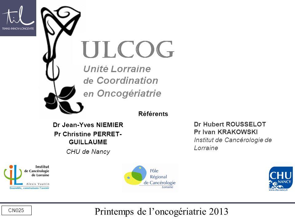 Dr Jean-Yves NIEMIER Pr Christine PERRET-GUILLAUME CHU de Nancy