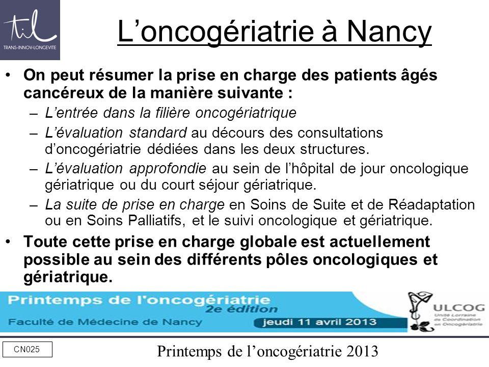 L'oncogériatrie à Nancy