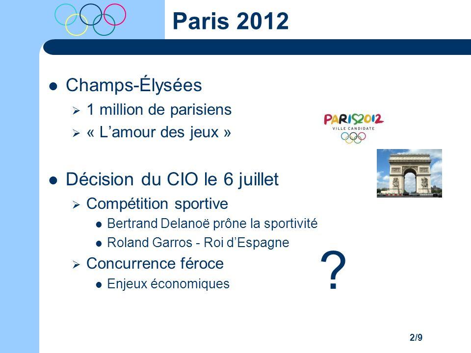 Paris 2012 Champs-Élysées Décision du CIO le 6 juillet