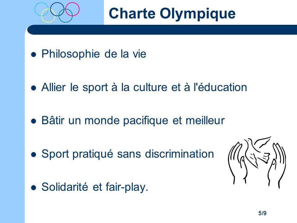 Charte Olympique Philosophie de la vie