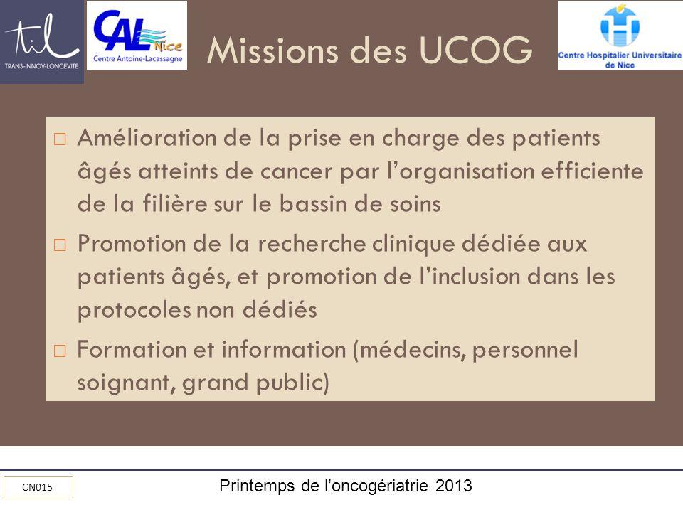 Missions des UCOG