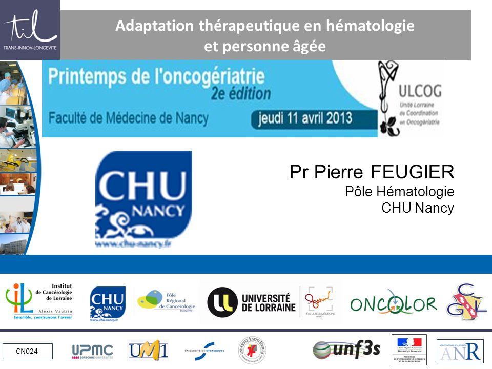 Adaptation thérapeutique en hématologie et personne âgée