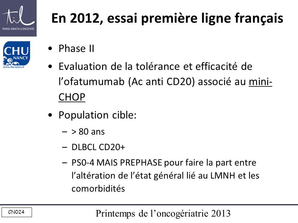 En 2012, essai première ligne français