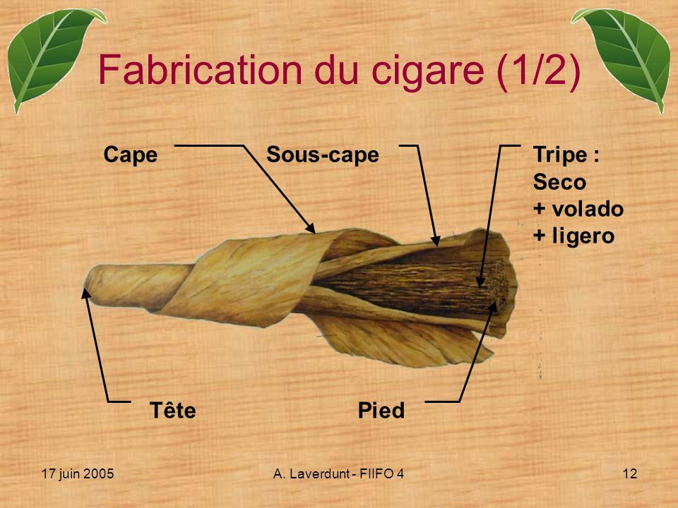 Fabrication du cigare (1/2)