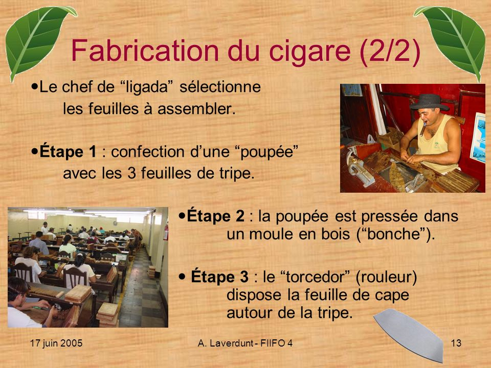 Fabrication du cigare (2/2)
