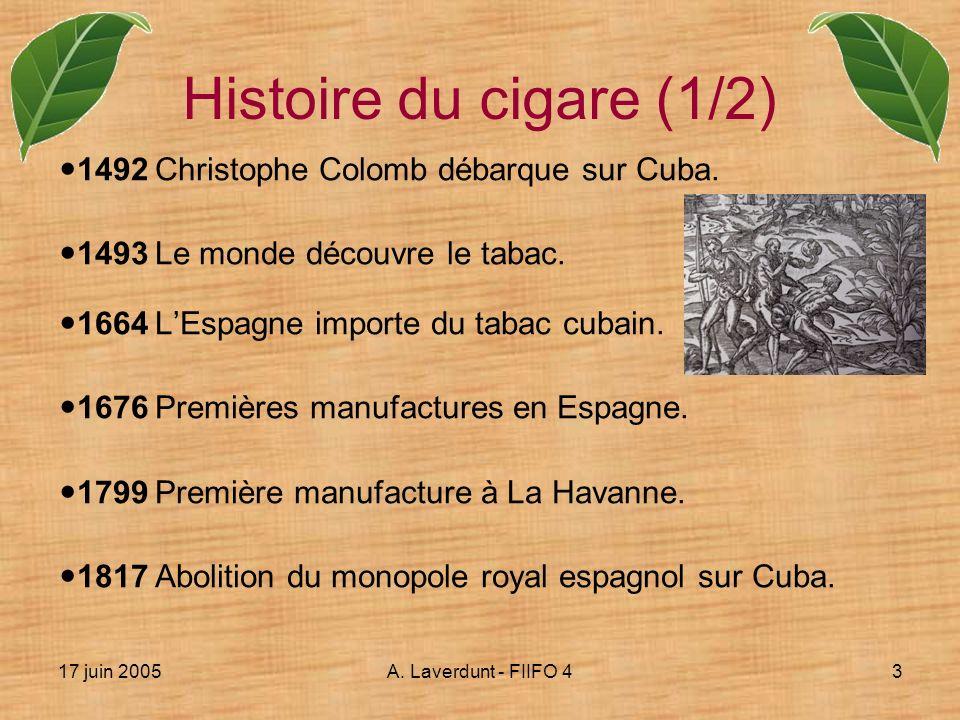 Histoire du cigare (1/2) 1492 Christophe Colomb débarque sur Cuba.