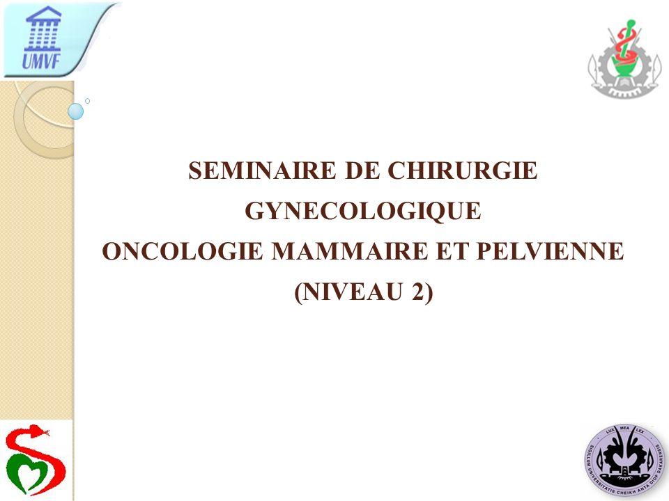 SEMINAIRE DE CHIRURGIE GYNECOLOGIQUE ONCOLOGIE MAMMAIRE ET PELVIENNE (NIVEAU 2)